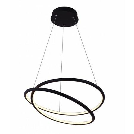 Spiraal hanglamp zwart of wit 47W LED 52,5 cm