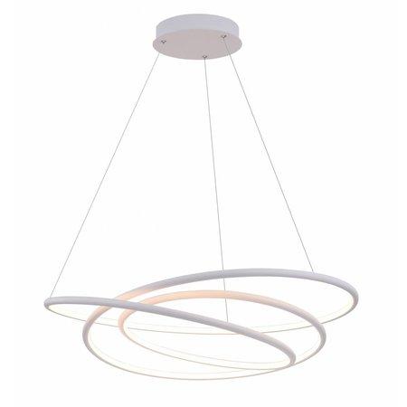Rings pendant light white or black LED 88W 73 cm