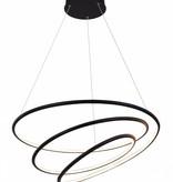 Suspension anneaux blanc ou noir LED 88W 73 cm
