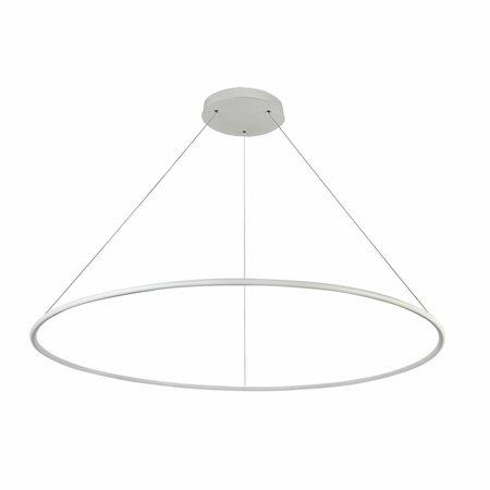 Suspension anneau LED blanc ou noir 64 W 120 cm