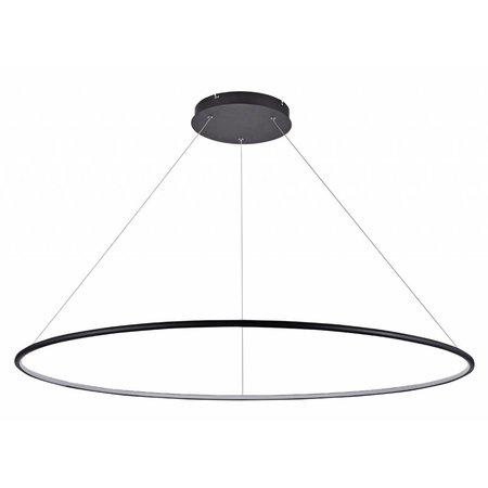 LED ring pendant white or black 64 W LED 120 cm