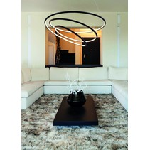Rings pendant light white or black LED 88W 73 cm