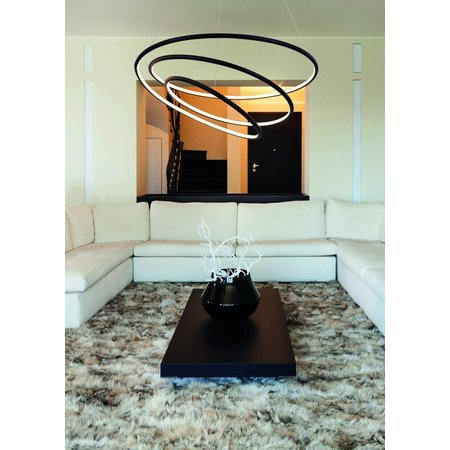 Hanglamp spiraal wit of zwart LED 88W 73 cm