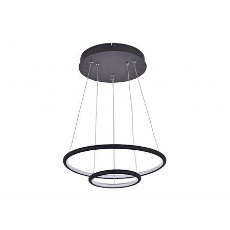 Lustre cercle LED noir ou blanc 36 W 40 cm