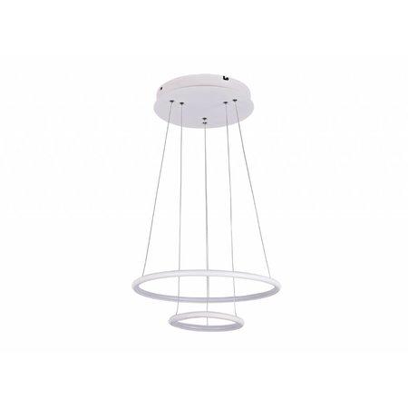 Hanglamp cirkels LED wit of zwart 36 W 40 cm