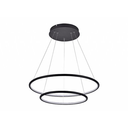 Suspension cercle LED blanc ou noir 53 W 60 cm