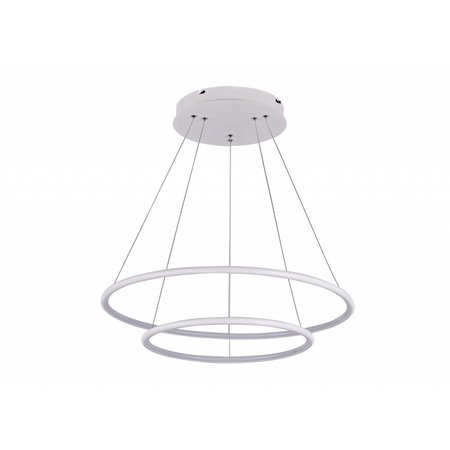 Circle pendant light white or black 53 W 60 cm