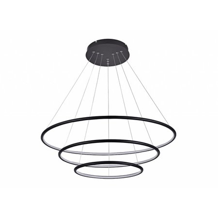 Pendant light with rings LED white or black 99 W 80 cm