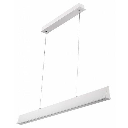 Office pendant light LED 24W black or white 1.2m