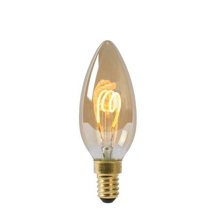 Ampoule bougie filament ambre 3W LED