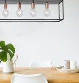 Contemporary pendant light black 5 light points