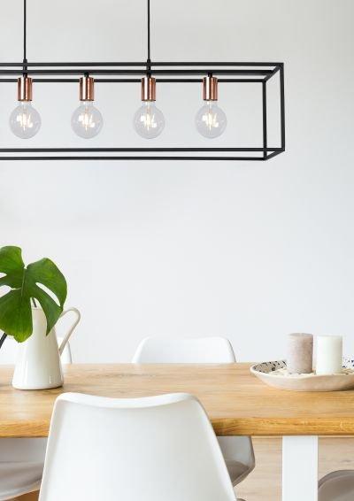 Suspension luminaire pour salle à manger noir