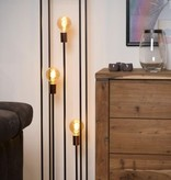 Zwarte vloerlamp voor 3 lampen