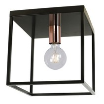 Cube ceiling light black