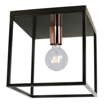 Cube ceiling light black