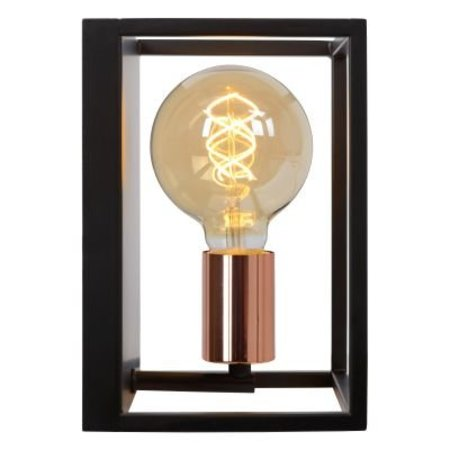 Cube wall light black E27 fitting