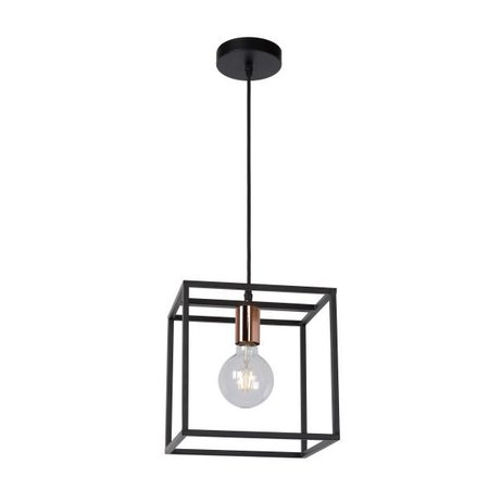Cube pendant light black E27 fitting
