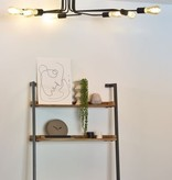 Plafondlamp met armen zwart