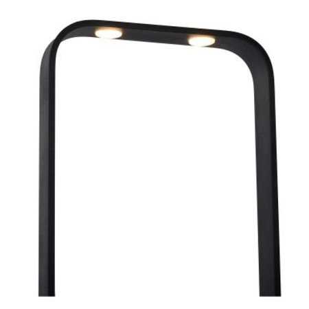 Minimalist floor lamp black LED 2x8W dimmable