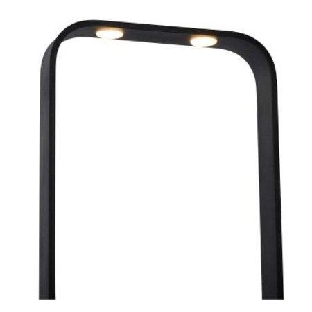 Minimalistische vloerlamp zwart LED 2x8W dimbaar