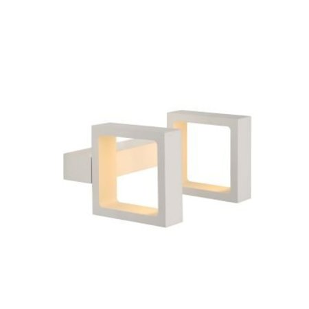 Design muurlamp LED richtbaar 2 x 4 W vierkant