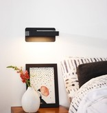 Wall light bed USB charger white or black LED