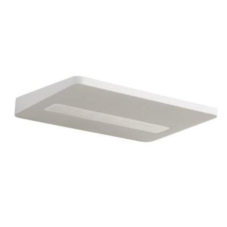 Platte wandlamp LED 8 W wit of zwart