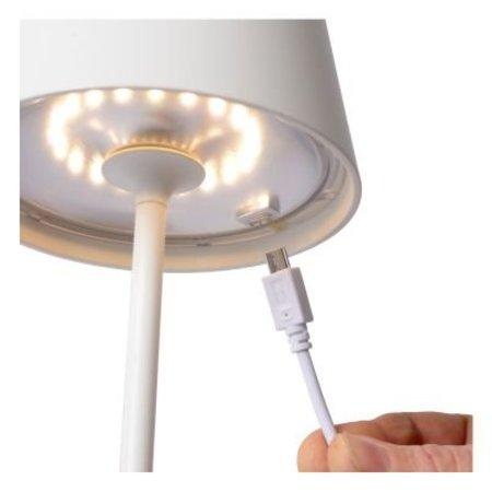 Tafellamp buiten touch snoerloos LED wit, zwart