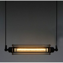 Pendant light vintage black 440mm wide E27