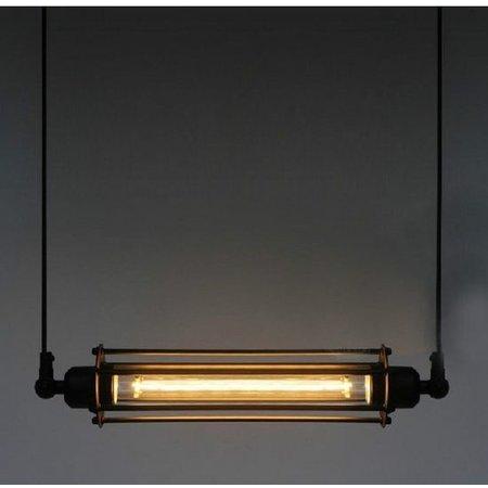 Pendant light vintage black 440mm wide E27