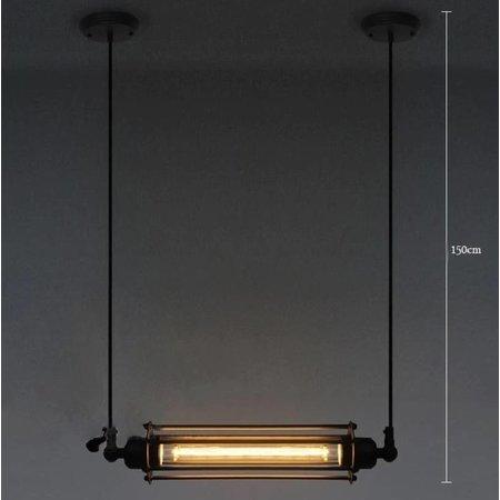 Hanglamp industrieel zwart 440mm breed E27