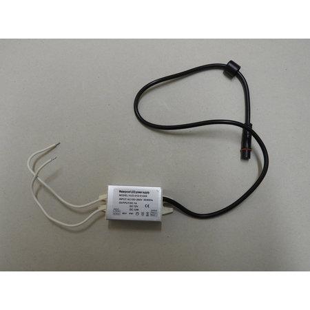 Waterdichte LED driver 12W voor 3-001-001