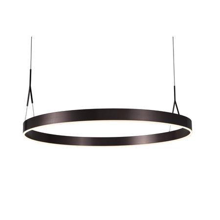 Lampe circulaire LED Ø 910mm noir, blanc, brun