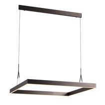 Vierkante lamp LED wit, zwart, bruin 90x90cm