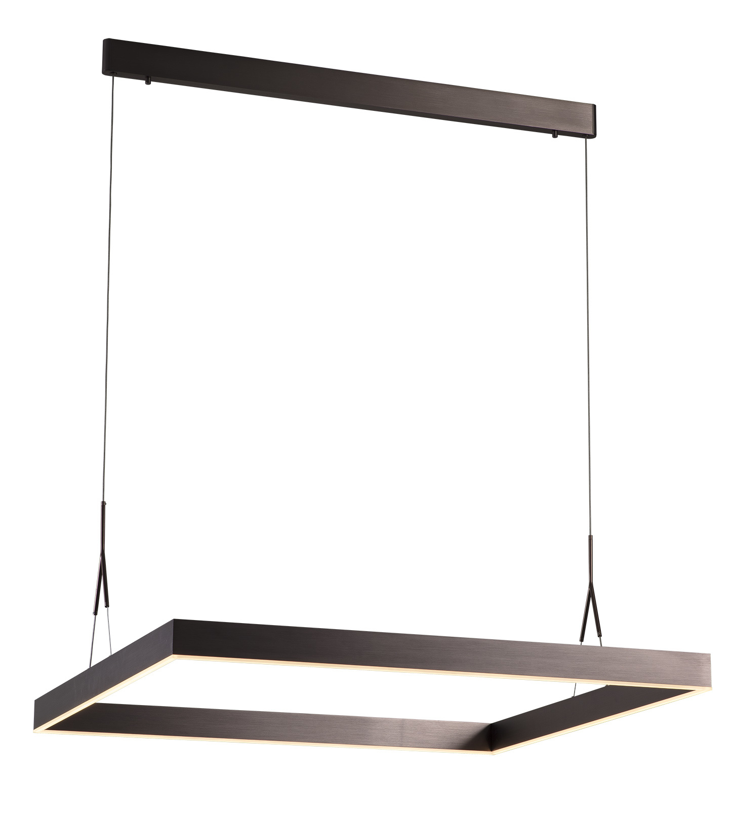 Square Pendant Light Led White Black Brown 90x90cm Myplanetled