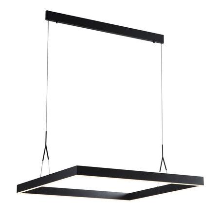 Square pendant light LED white, black, brown 90x90cm