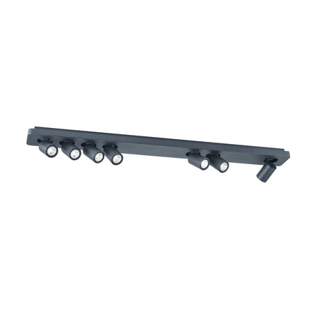 Long plafonnier 7x 4,5W LED blanc, noir 1350mm
