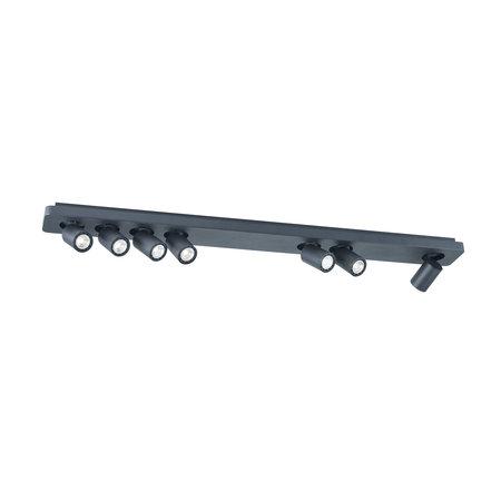 Plafonnier long 7x 4.5W LED blanc, noir 1135mm