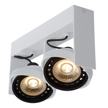 Double ceiling spotlight dim to warm 2x12W