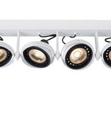 4 spot light dim to warm black or white