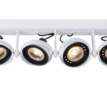 Lamp 4 spots dim to warm wit of zwart