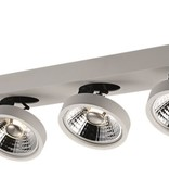 Ceiling spot with 3 x AR111 12W white or black