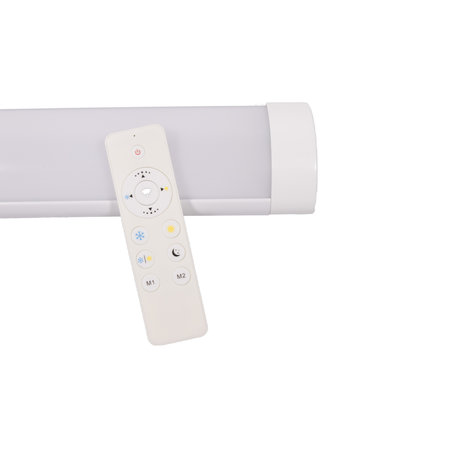 Fluorescent LED fixture 60W 150 cm with color control and dimmable