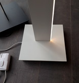 Lampadaire LED blanc, design noir 32W 1800mm dimmable
