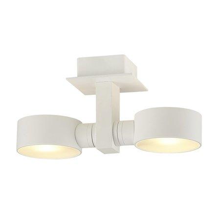 Plafonnier NicNac 2XG9 / 2.5W LED blanc satiné