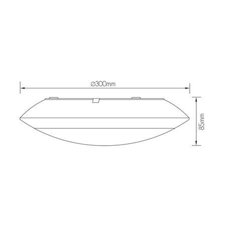 Plafondlamp IP65 waterdicht met bewegingssensor ingebouwd 17W