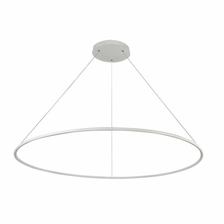 Lampe circulaire blanche ou noire 64 W LED 120 cm cable XXL 3 m