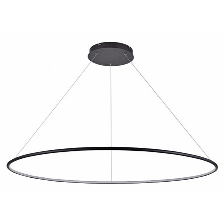 Cirkel lamp wit of zwart 64 W LED 120 cm  XXL kabel 3 m