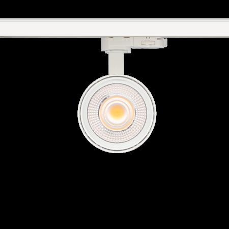 Éclairage sur rail réglable LED blanc ou noir 25W Citizen design 95mm Ø