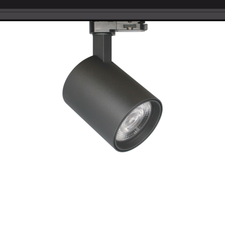 Rail lighting adjustable white or black LED 30W Citizen design 95mm Ø